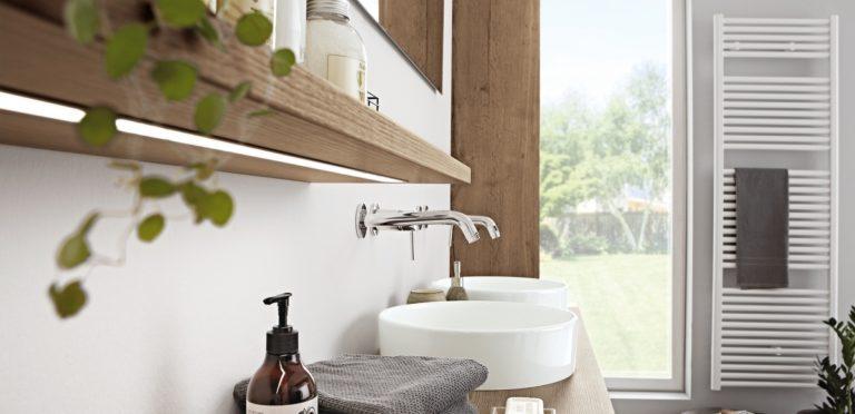 Inneneinrichtung Badezimmer Waschtische natürlich holz - Küchenstudio Raab Stuttgart