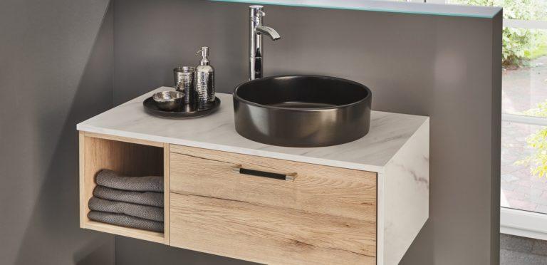 Inneneinrichtung Badezimmer Waschtische Holz Keramik Stein - Küchenstudio Raab Stuttgart